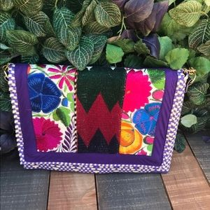 Oaxaca Handwoven Embroidered Clutch Crossbody